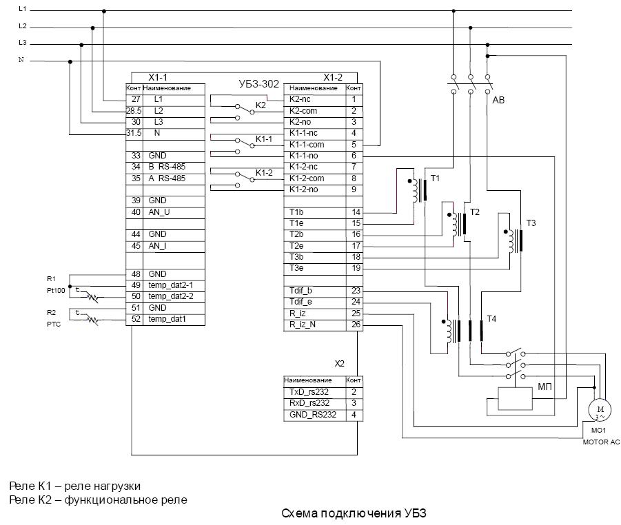 защиты электродвигателей