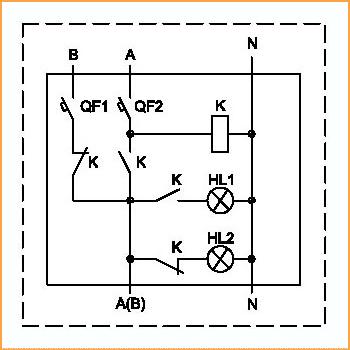 схема автоматического запуска однофазной электростанции