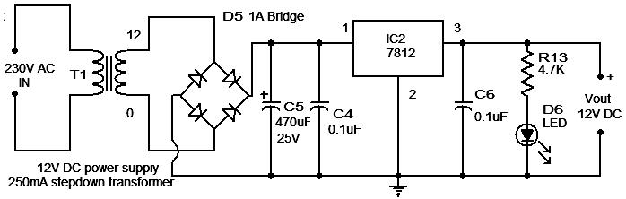схема стабилизированного блока питания 12 вольт схема